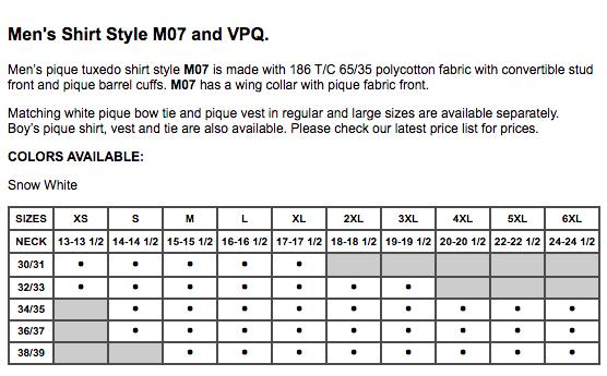 M07 Wing Collar Pique Fabric Tuxedo Shirt