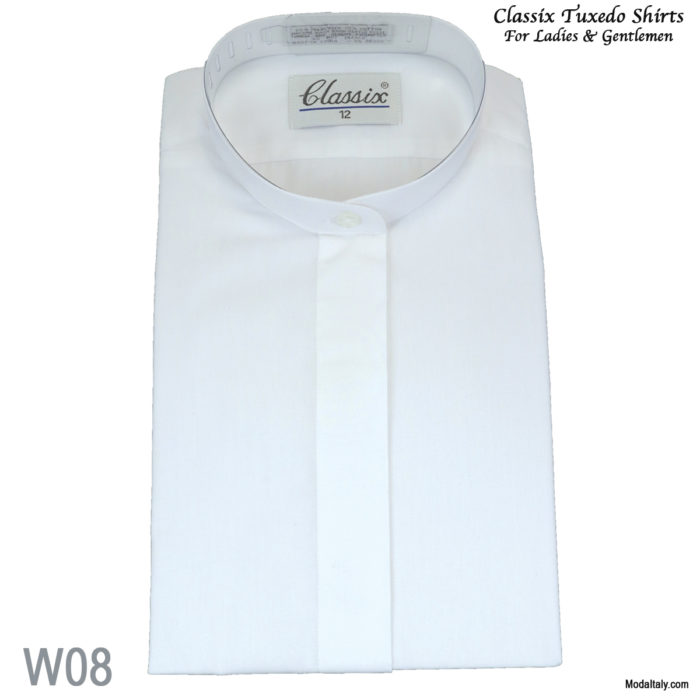 Women Banded Fly Front Dress Shirt