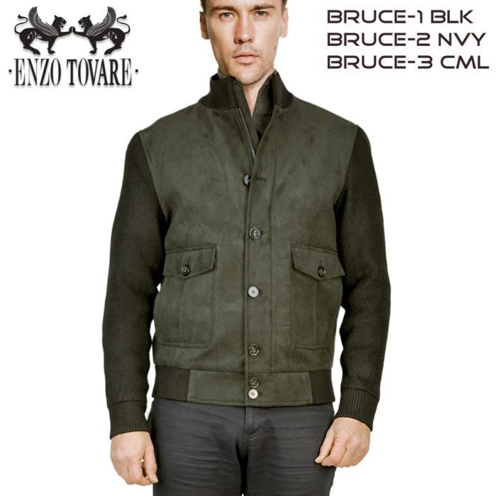 Enzo Ultra Suede Windbreakers Jacket