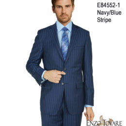 Enzo Navy Stripe Suit