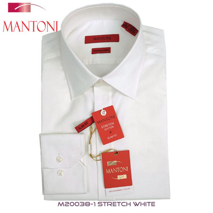Mantoni Stretch White Dress Shirt