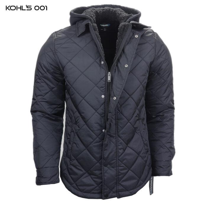 Hawk Wind Breaker Leisure Hooded Black Jacket