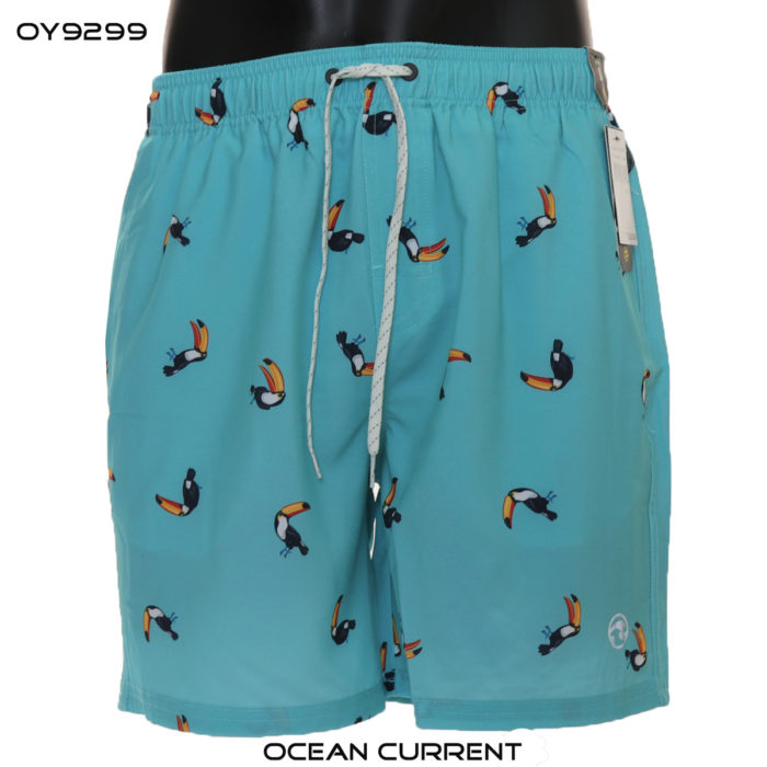 Ocean Current Tropical teal Swim Trunks