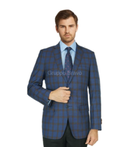B88008-1 Blue Red Sports Jacket