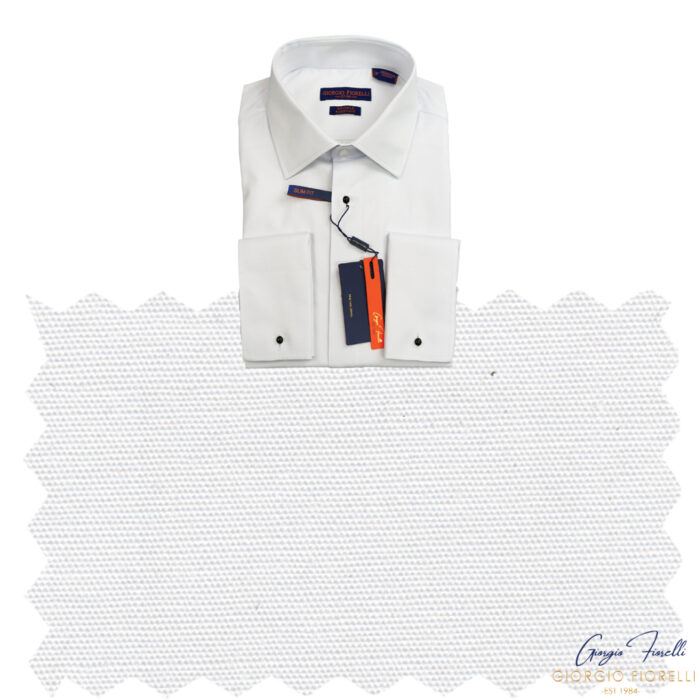 Giorgio Fiorelli Lay Down Collar Tuxedo Shirt Fabric