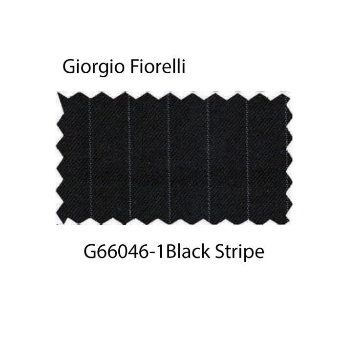 Double-Breast Suit, Black Stripe by Giorgio Fiorelli Fabric