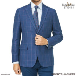 Enzo Tovare Linen Blue/Red Windowpane