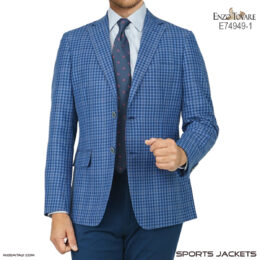 Enzo Tovare Linen Blue Multi Color Check
