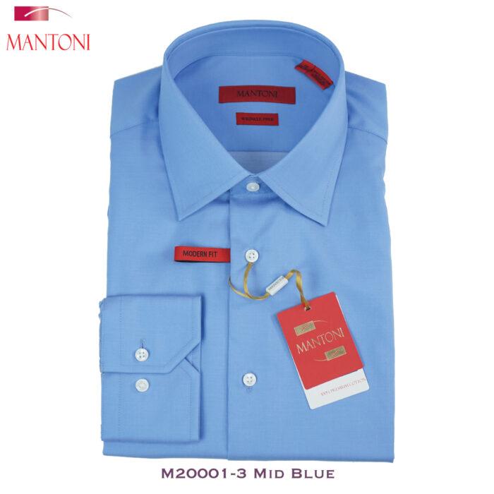 Mantoni Medium-Blue Dress Shirt