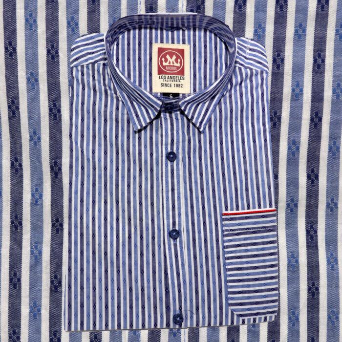 MICROS Garage Blue Short Sleeve Shirt