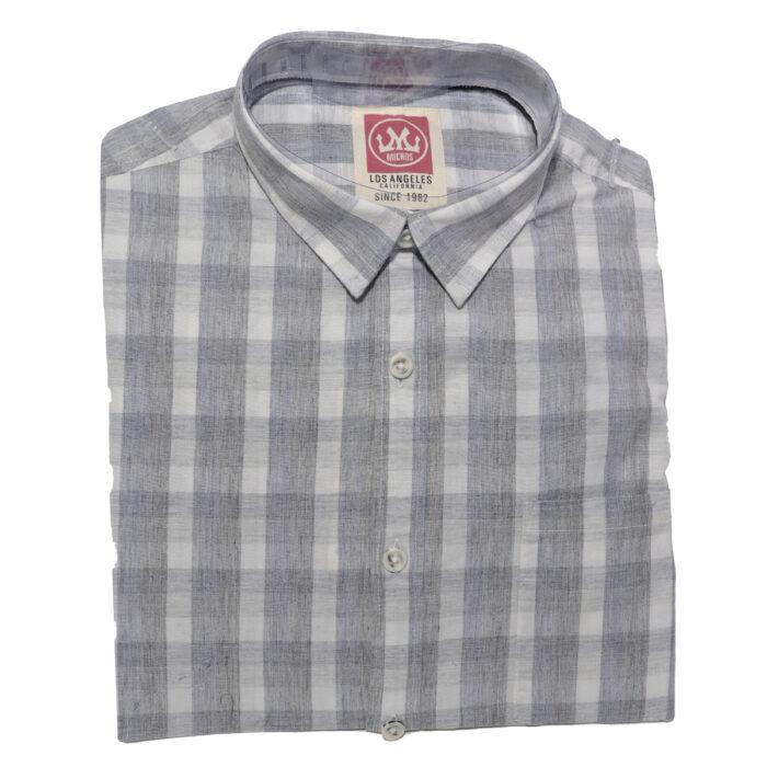 MICROS Toto Grey Short Sleeve Shirt