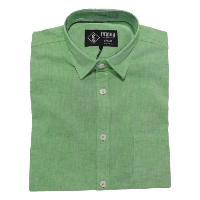 INDIGO STAR Karev Summer Shirts in Green