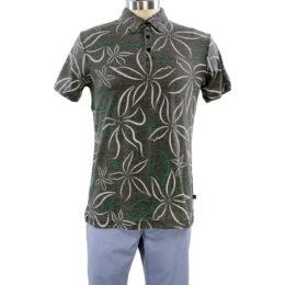 INDIGO STAR Kokomo Heather Black Polo Shirt