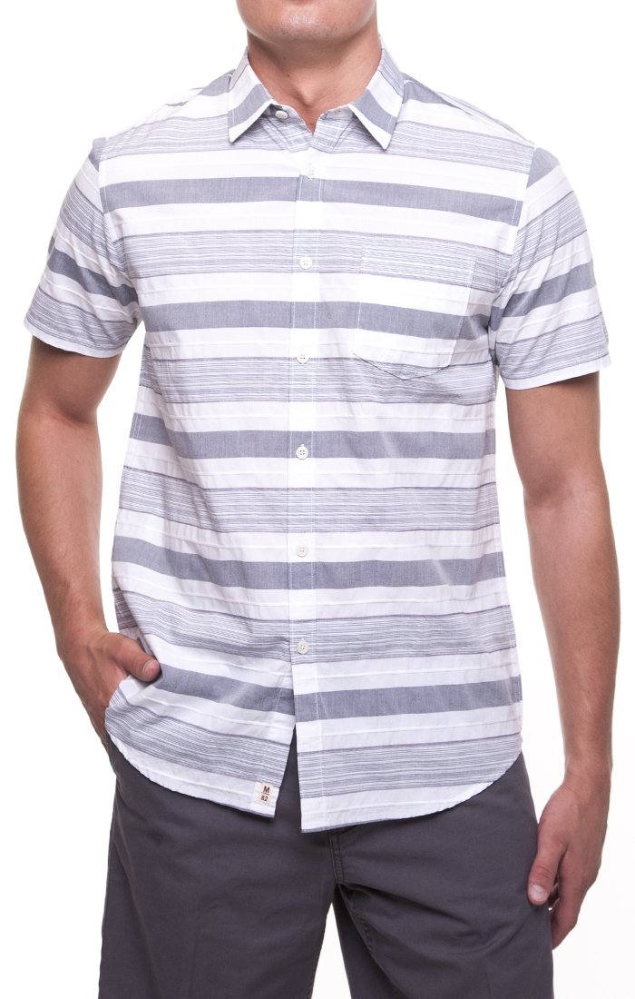 MICROS Desert-Bound Grey Short Sleeve Shirt