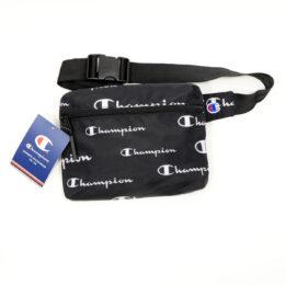 Champion Black w Multi-Logo Passport Waist Pack