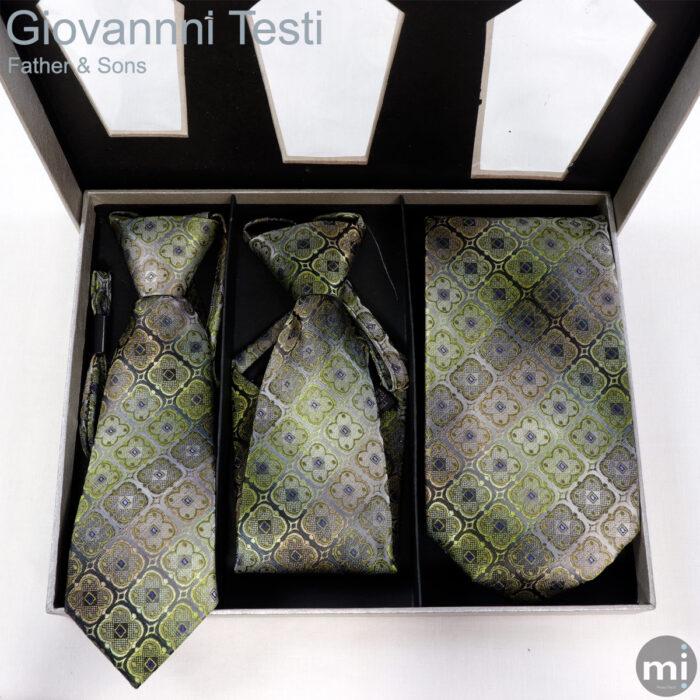 Peisley Diamonds Green & Purple Father & Sons NeckTies