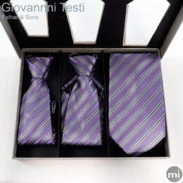 Purple & Grey Stripes Father & Sons NeckTies