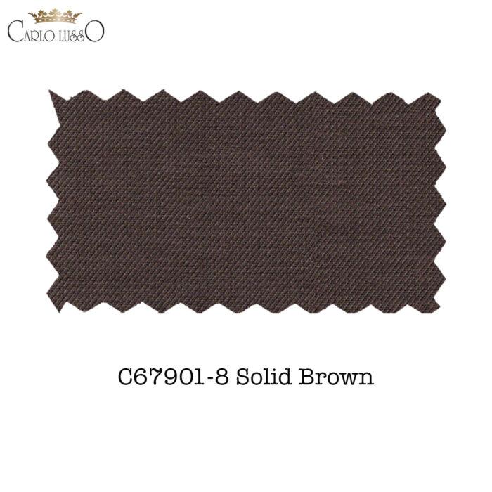 Carlo Lusso Fabric Sample Brown