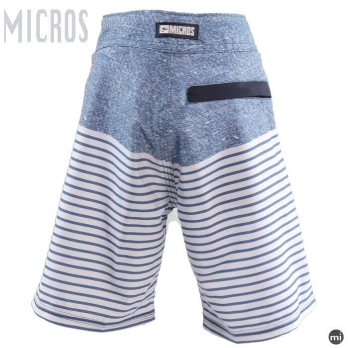 Boys Sports Shorts Blue stripe by MICROS back veiw