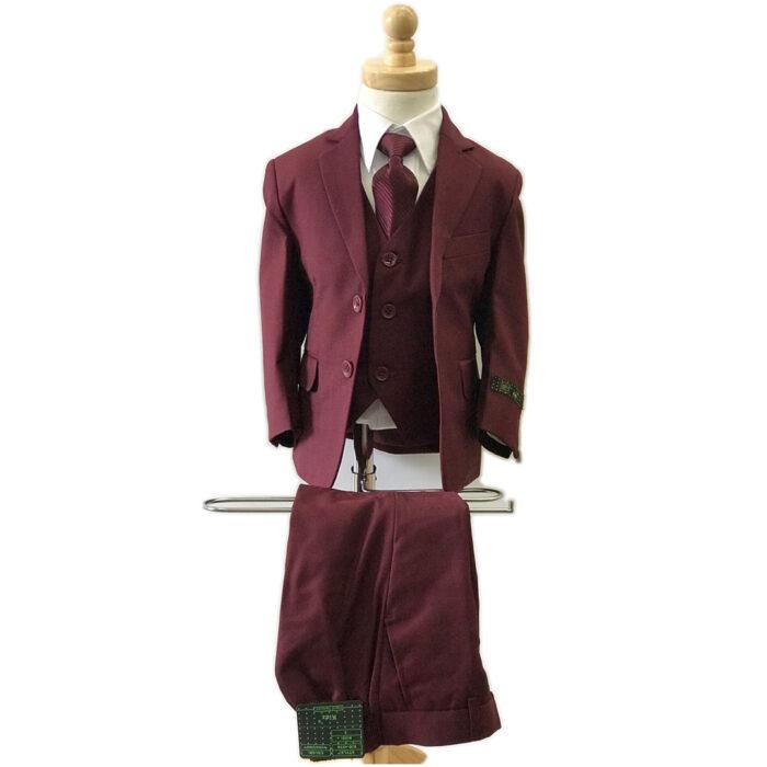 Giovanni Testi 5 Pc Kids Suit Burgundy