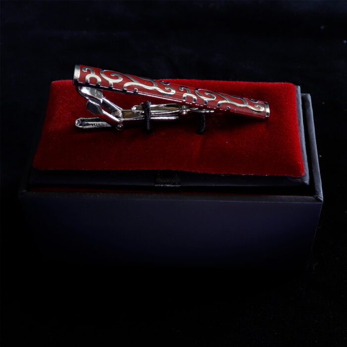 "2"" Red & Chrome Classic Tie Bar"