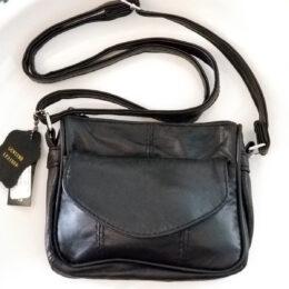 """Genuine Black Leather Shoulder Bag. 5""""X6""""X1.5"""""""