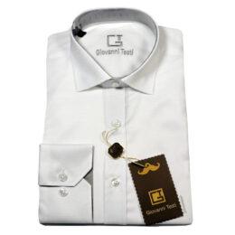 Giovanni Testi White Laydown Dress Shirt